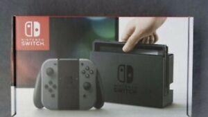 Nintendo Switch Grise (Neuve et Scellée) Facture pour garantie