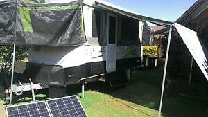 Jayco Swan Outback 2015 Camper Trailer Set up for Free Camping Bogangar Tweed Heads Area Preview