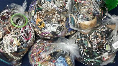 Joblot Mixed Costume Jewellery 2kg Kilo Bundle Everyone Different Craft Beading
