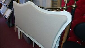 French Style Antoinette Headboard - Ivory/Natural King Size Solid Wood RRP £299