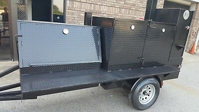 Cutting Board Mega Rib Master Bbq Smoker 48 Grill Trailer Food Truck Cart Vendor