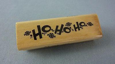 Craft Smart Mounted Rubber Stamp / HO HO HO / Santa Claus Christmas Holiday
