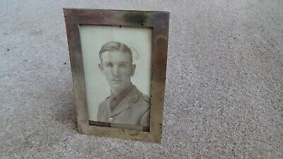 VINTAGE NICKEL SILVER 1920'S METAL PICTURE FRAME 2 3/4