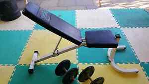 Incline/decline bench and 22.5kg dumbbells Beaconsfield Fremantle Area Preview