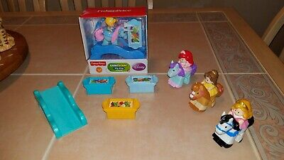 Fisher Price Little People Disney Klip Klop Castle Figures Cinderella Rapunzel +