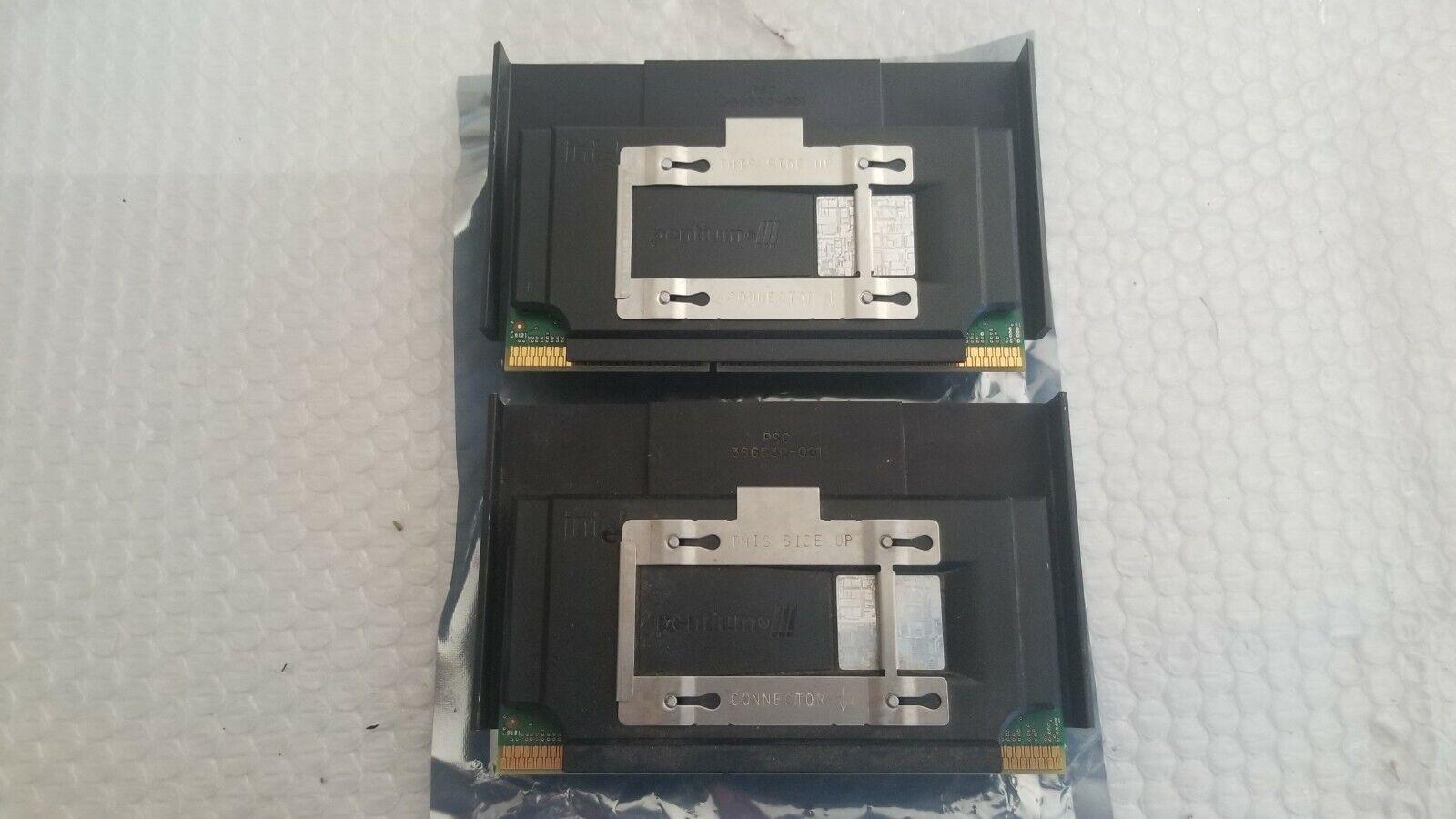 Matching Pair - Intel Pentium III 500Mhz Slot 1 Processors 500/512/100/2.0V - $9.95