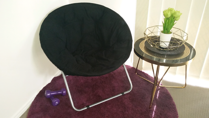 Black large adult size moon chair exc cond