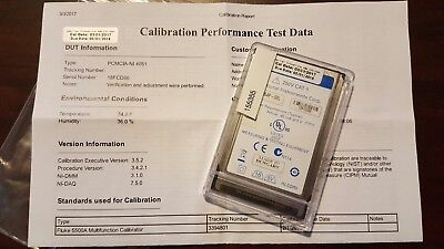 National Instruments Pcmcia Ni 4051 Multimeter Card Calibrated