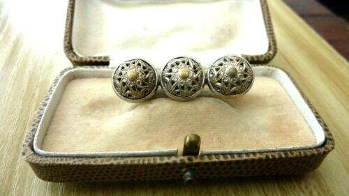 antique georgian filagree lace brooch