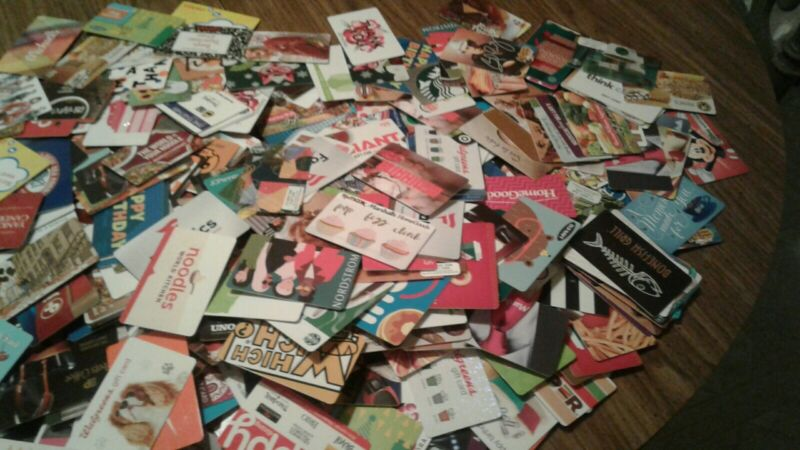 One Thousand (1,000) Gift Cards, NEW, Collectible Assorted, Mint