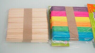 Large Popsicle Sticks (Wooden Wood Popsicle Sticks Skill Sticks Natural or Colored Medium Large XLarge)