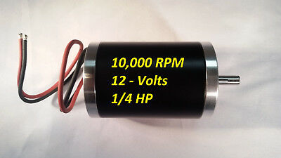 Fast 10000-rpm 12v-dc Electrical-motor Servo Cnc Project 8mm-keyed-shaft 0.25-hp