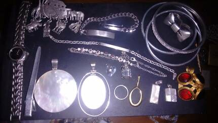 Jewellery stamped 925, hallmarked or antique, various prices