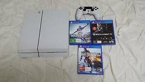 White ps4 500gb and 3 games (NO SWAPS...NO OFFERS) Stafford Brisbane North West Preview