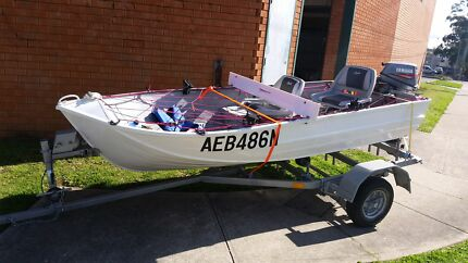 12ft Tinnie 8hp yamaha Both registered  Campbelltown Campbelltown Area Preview