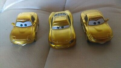 Disney Pixar Cars Diecast Lot Rare Ransburg Gold Cruisin Lightning McQueen Fans