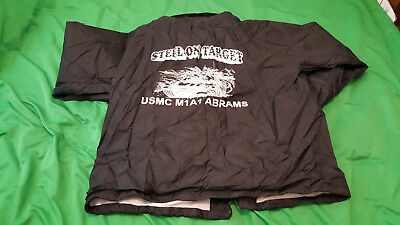 Auburn sportswear, (USMC M1A1 ABRAMS) snap on buttons jacket Men's XL size. NEW. for sale  Barstow