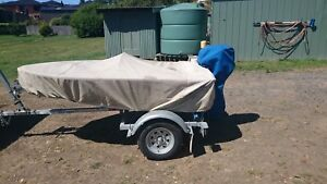 Boat, trailer and outboard for sale