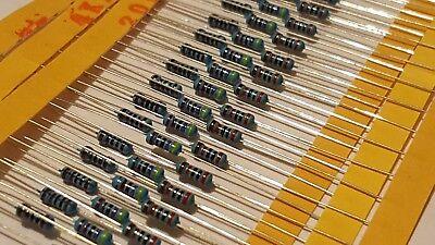 40 Pcs 30 Values 14 W 1 Metal Film Resistors Resistance Mixed Assortment Set