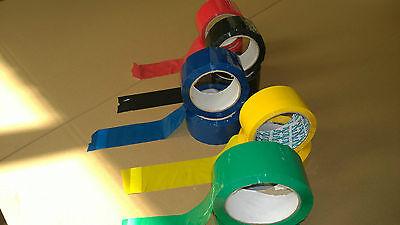 Packband Klebeband Paketband Farbig Blau Grün Rot Bunt auf Acrylatbasis 66 Meter