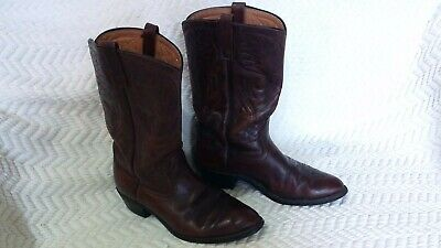 1b35a5bd26a Vintage Red Leather Cowboy Boots w Bandana Fabric Top