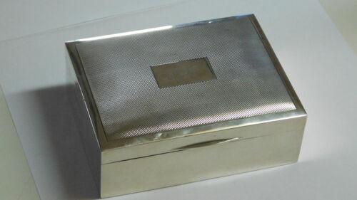Cigar Box Mappin & Webb Birmingham  Engine Turned Sterling Silver 925