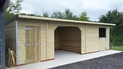 12' X 30' STABLE SHELTER TACK COMBI MOBILE/ TREATED/INC FITTING/ PENT ROOF for sale  Bristol