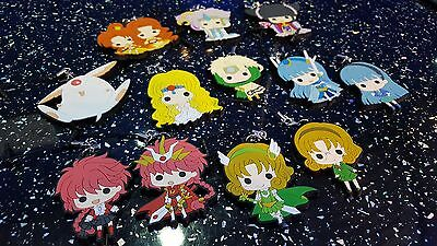 Clamp - Magic Knight Rayearth Phone Charms - Set Of 10 - Rare - Hard To Find