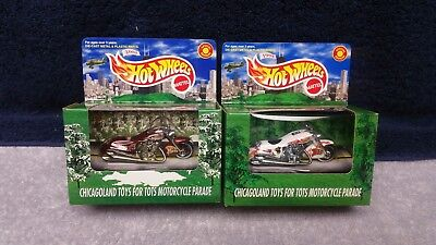 2 Limited Edition Hot Wheel Chicago Toys For Tots Scorchin Scoooter