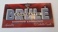 Pubblicita' Contratto ,brule', Digestivo Aromatico -  - ebay.it