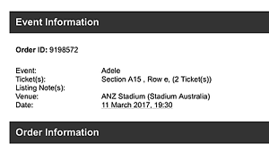 """Adele Live """"A Reserve Tickets"""" at ANZ Stadium Sydney Bondi Junction Eastern Suburbs Preview"""