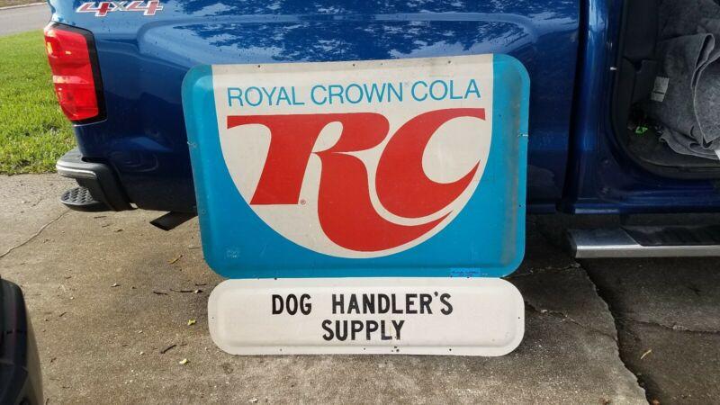 Vintage 44x48 RC Royal Crown Soda Sign Pop Gas Oil Cola