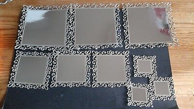 Handmade die cut silver frame card toppers, wedding, birthdays, Christmas, ect