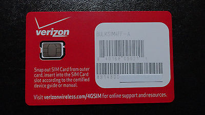 NEW 4G LTE Nano 4FF-A COMPATIBLE VERIZON  iPHONE/SAMSUNG ANDROID DEVICES & MORE