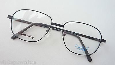 Titan Brillengestell schwarz nickelfrei leicht große Form für Männer Grösse M