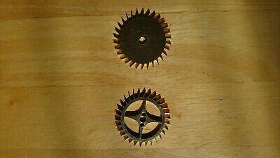 Antique longcase clock parts : deadbeat escape wheels
