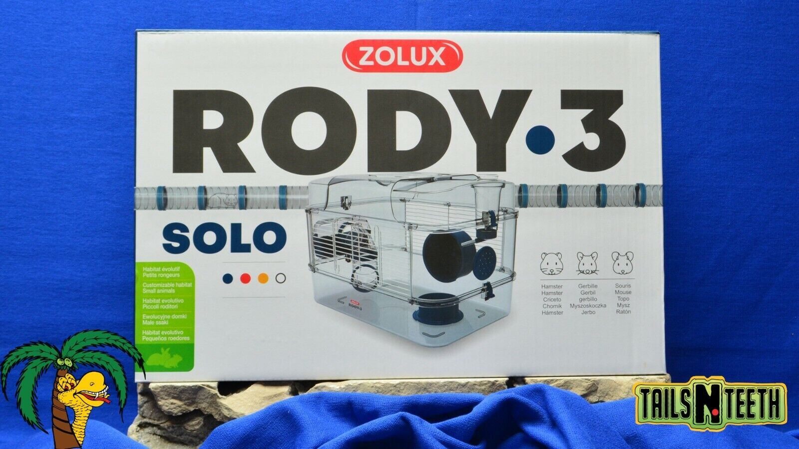 Zolux RODY-3 SOLO Cage For Hamsters Gerbils Mice - Blue - InterConnecting Cages - CA$46.99