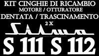 ★kit Cinghie Di Ricambio 2 X Proiettore Silma S 111 S 112 ( Tonda E Dentata )★ -  - ebay.it