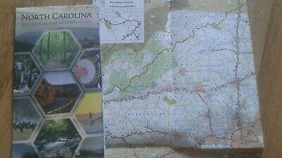 Landkarte, Reisekarte, Stadtplan Map USA North Carlonia (Usa Reise-karte)