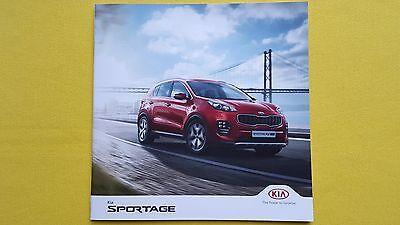Kia Sportage GT-Line S KX-5 paper brochure sales catalogue December 2016 MINT