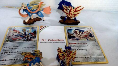 Pokémon TCG Zacian Zamazenta Figures Cards Pins