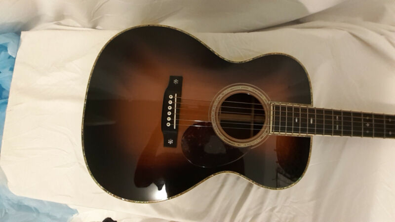 Martin 2004 OM-42 Custom Shop Sunburst Acoustic Guitar.
