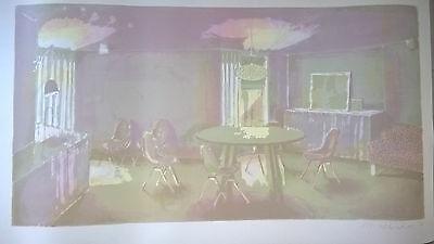Matthias Weischer, Originalfarblithografie, signiert !!! Leipziger Schule