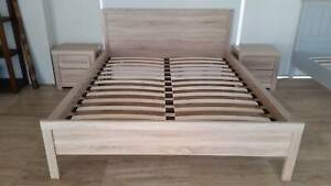 Queen Bed Frame with Bedsides - BRAND NEW