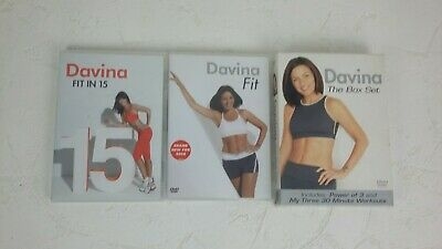 Davina McCall Workout Fitness DVD Bundle X4 DVDS Fit In 15 Power Of 3 S259