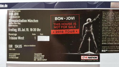 Bon Jovi 05.07.2019 München - Haupttribüne überdacht - Ehrenloge 1. Reihe