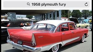 Wanted ....... 1958 Plymouth Fury Model