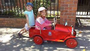Vintage Fire Engine Peddle Car (Fully Restored) Brighton East Bayside Area Preview