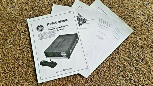 GE MARC-300, MARC-350 SERVICE MANUAL FOR LAMP POWER SUPPLIES