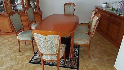 Italienische Möbel Holz (Italienische Stilmöbel - komplettes Esszimmer aus edlem Massivholz Kirsche)